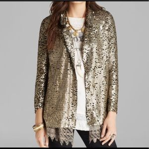 Free People Gold Sequin Jacket - NWT